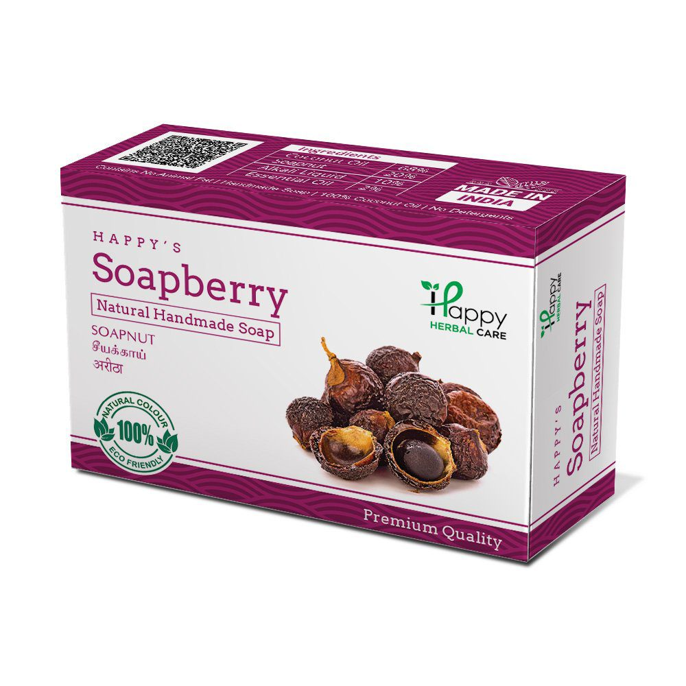 Happy Herbal Care Soapberry Natural Soap 75G